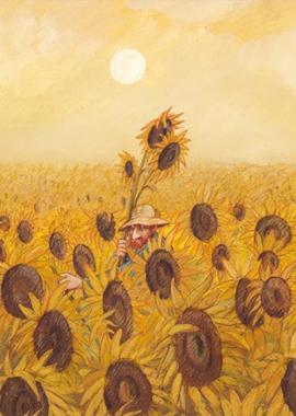 Vincent klaut schon wieder Sonnenblumen!