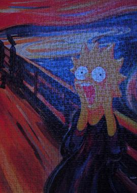 (c) Matt Groening. Dieses Puzzle ist jahrelang bei mir im Wohnzimmer gehängt.